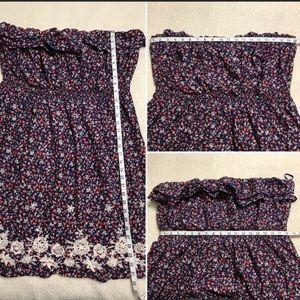 Torrid Strapless Dress Plus Size 4X Navy & Red